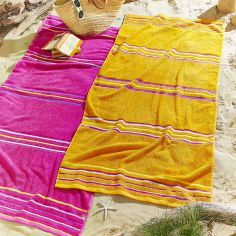Rainbow Beach Towel Pair - Pink