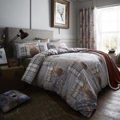 Catherine Lansfield Heritage Stag Grey Duvet Cover Set