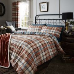 Catherine Lansfield Heritage Kelso Check Duvet Cover Set