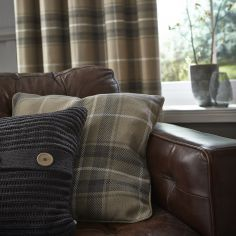Catherine Lansfield Brushed Heritage Check Grey Cushion Cover