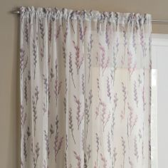 Willow Slot Top Voile Curtain Panel - Purple