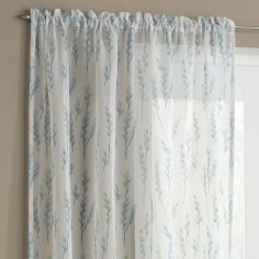 Willow Slot Top Voile Curtain Panel - Teal