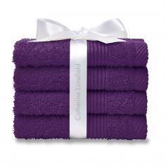 Catherine Lansfield 100% Cotton Towel - Plum