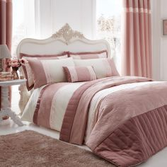 Catherine Lansfield Luxury Gatsby Duvet Cover Set - Blush Pink