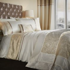 Catherine Lansfield Luxor Jacquard Bedspread - Gold