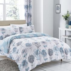 Catherine Lansfield Banbury Floral Reversible Duvet Cover Set - Blue