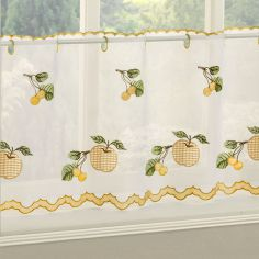 Winchester Gingham Café Net Panel - Yellow