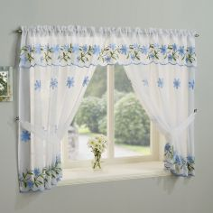 Daisy Net Curtain Window Set - Blue