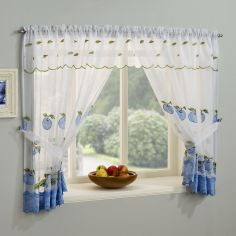 Winchester Kitchen Window Set - Blue