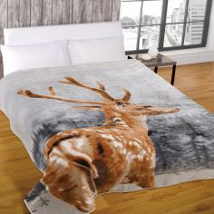 Stag Mink Supersoft Blanket Fleece Throw