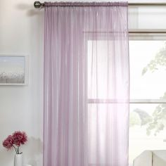 Vertigo Striped Voile Curtain Panel - Lilac Purple