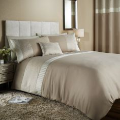 Catherine Lansfield Embossed Rose Duvet Cover Set - Gold