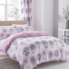 Banbury Floral Fully Lined Eyelet Curtains - Pink