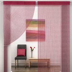 Red Sparkle String Door/Window Curtain Panel