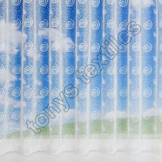 Mirage Swirls White Net Curtain