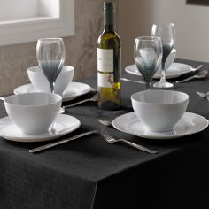 Linen Look Tablecloth - Black