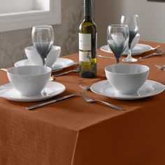 Linen Look Tablecloth - Orange