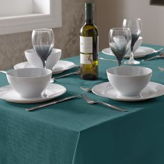 Linen Look Tablecloth - Teal