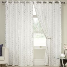 Nairobi Eyelet Thermal Blackout Curtains - White