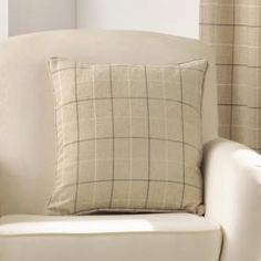 Burton Check Cushion Cover - Natural Cream