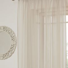 Lucy Eyelet Ring Top Voile Curtain Panel - Natural Cream