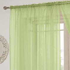 Lucy Slot Top Voile Curtain Panel - Zest Green
