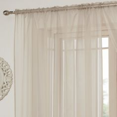 Lucy Slot Top Voile Curtain Panel - Natural Cream