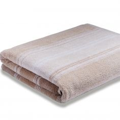 Bianca 100% Cotton Soft Ombre Stripe Towel - Natural