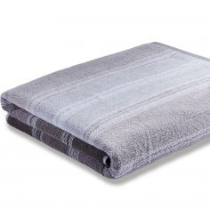 Bianca 100% Cotton Soft Ombre Stripe Towel - Grey