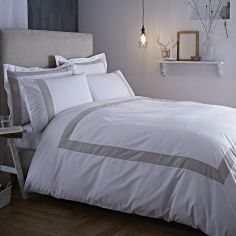 Bianca 100% Cotton Soft Tailored Duvet Cover Set - Natural