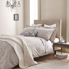 Bianca 100% Cotton Soft Textured Cotton Jacquard Duvet Cover Set - Natural