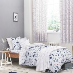 Kids Bianca 100% Cotton Soft Space Print Duvet Cover Set - Blue