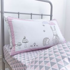 Kids Bianca 100% Cotton Soft Nordic Print Fitted Sheet - Pink
