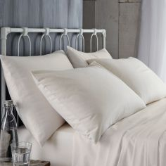 Bianca 100% Cotton Soft 190gsm Flannelette Pillowcases - Cream