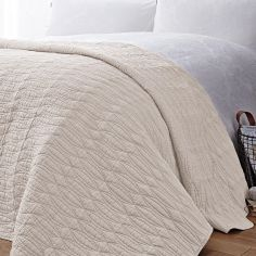 Bianca 100% Cotton Soft Simplicity Bedspread - Cream