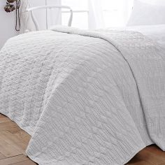 Bianca 100% Cotton Soft Simplicity Bedspread - White