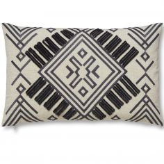 Bianca Cotton Soft Aztec Cutwork Cushion - Multi