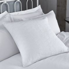 Bianca 100% Cotton Soft Simplicity Pillowsham - White