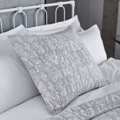 Bianca 100% Cotton Soft Printed Pillowsham - Grey