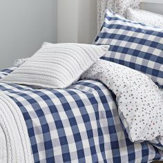 Kids Bianca 100% Cotton Soft Folk Cushion Cover - Blue