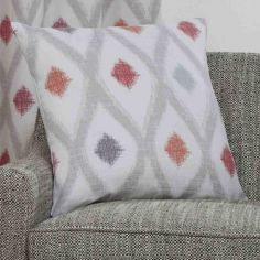 Bordeaux Geometric Cushion Cover - Crimson Red