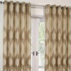 Delta Fully Lined Ring Top Curtains - Truffle