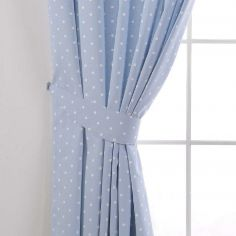 Dotty Tie Backs - Powder Blue