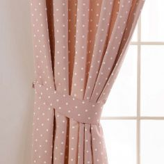 Dotty Tie Backs - Rose Pink