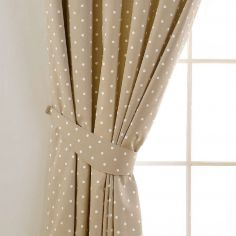 Dotty Tie Backs - Taupe Natural