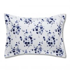 Bianca 100% Cotton Soft Sprig Floral Oxford Pillowcase - Blue