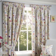 Hampshire Fully Lined Floral Tape Top Curtains - Multi