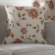 Hereford Floral Cushion Cover - Terracotta