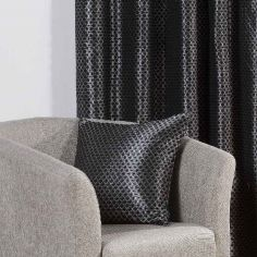 Sicily Woven Jacquard Cushion Cover - Black
