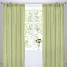 Botanique Floral Thermal Lined Tape Top Curtains - Green